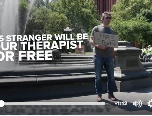 This Stranger Wants To Be Your Therapist For Free